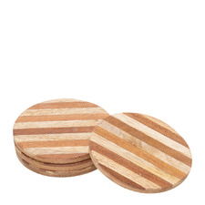 Willow 10cm Wooden Coasters (Set of 4)