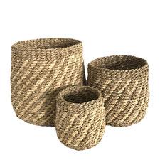 3 Piece Accra Seagrass Basket Set
