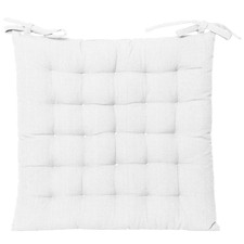 Solid Cotton Outdoor Chair Pad
