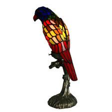 Bird Leadlight Multi-Colour Table Lamp