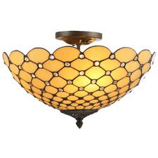 Tiffany Diamond Close to Ceiling Light