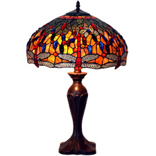 Amartya Leadlight Dragonfly Tiffany Table Lamp