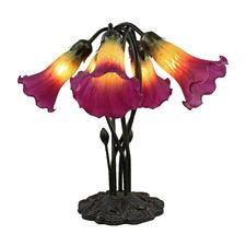 Five Branch Gooseneck Lily Lamp