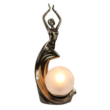 Art Décor Dancing Lady Frosted Glass Table Lamp
