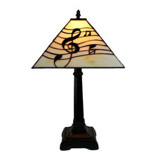Music Symbol Square Table Lamp