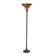 Stained Glass Dragonfly Floor Lamp