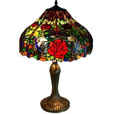 Leadlight Table Lamp 63cm