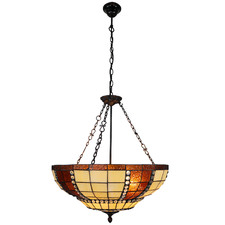 Geometric Upside Down Tiffany-Style Pendant Light