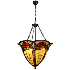 Crown Floral Tiffany-Style Pendant Light
