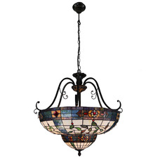 Sharpe Tiffany-Style Pendant Light