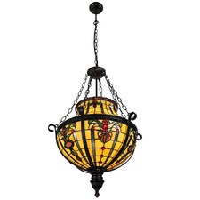 Lesley Floral Tiffany-Style Pendant Light