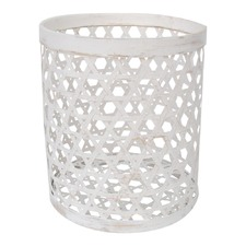 Round Basket with Hole Weaving in Bamboo