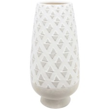 White Wash Vase Concrete
