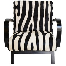 Zambezi Faux Zebra Arm Chair