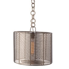 Steel Wrapped Wire Drum Lamp