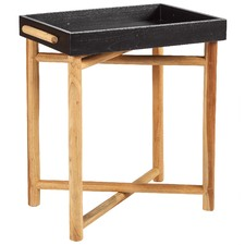 Black Folding Leg Tray Table