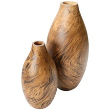 Tortoise Mango Wood Vases (Set of 2)