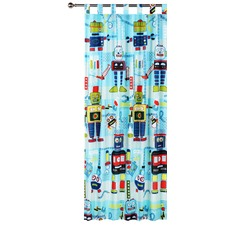 Robot Workshop Tab Top Curtain Set