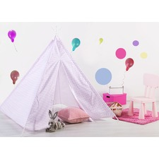Purple Dots Tee Pee Tent