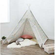 Linen Flower Teepee Tent