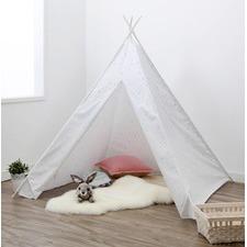 Grey Stars Teepee Tent