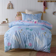 Swan Glow In The Dark Quilt Cover Set