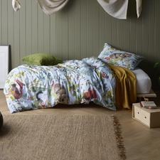 Ironbark Printed Cotton Reversible Quilt Cover Set