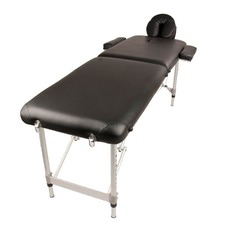 2 Fold Portable Aluminium Beauty Massage Table Bed