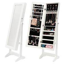 Mirror Jewellery Cabinet Storage Organiser