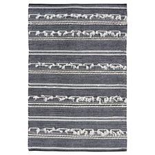 Charcoal Noir Hand-Woven Wool Rug