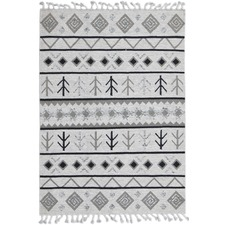 Ivory Artifact Handwoven Wool Rug