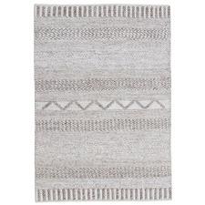 Light Grey Cara Hand-Woven Wool-Blend Rug