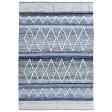 Blue Mekong Hand-Woven Wool-Blend Rug