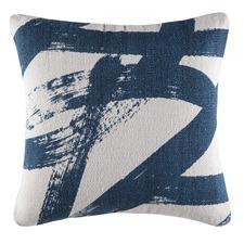 Harvie Blue Square Cushion