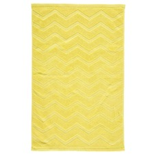 Moko Rectangle Yellow Bath Mat