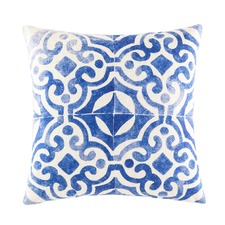 Zania Blue Square Cushion