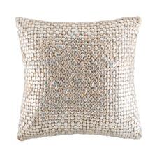Sasha Silver Square Cushion