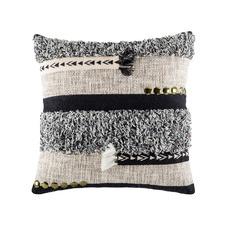 Bitza Black Square Cushion