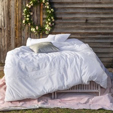 White Derby Quilt Cover Set