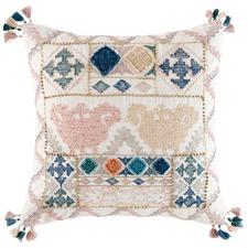 Square Tasselled Anika Cotton Cushion