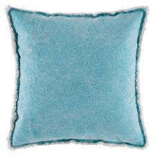 Teal Kuta Cotton Cushion