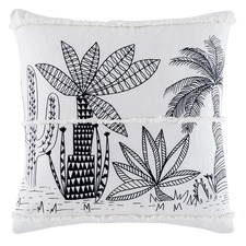 Black & White Oxhaca Cotton Cushion