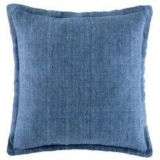 Indigo Tailored Linen Cushion
