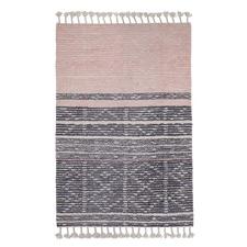Pink & Grey Tasselled Knox Rug