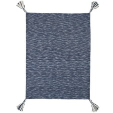 Navy Montauk Cotton Throw