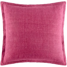 Wine Tailored Linen Cushion