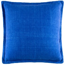 Electric Blue Tailored Linen Cushion