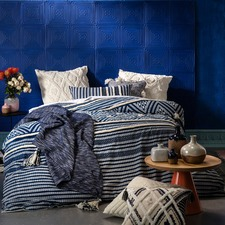 Navy Zagora Cotton Quilt Cover Set
