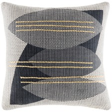 Charcoal Lennon Cotton Cushion