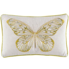 Chartreuse Flutter Embroidered Cushion